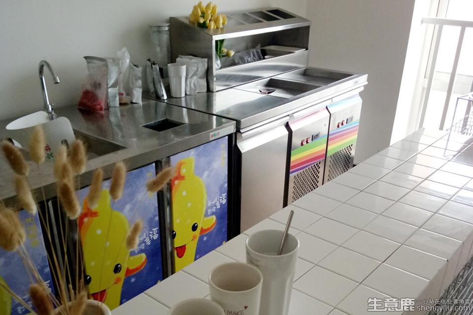 抹茶王子炒酸奶企业实拍