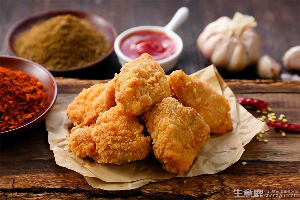 吉健炸香鸡加盟店实拍