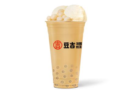 豆吉湯圓奶茶