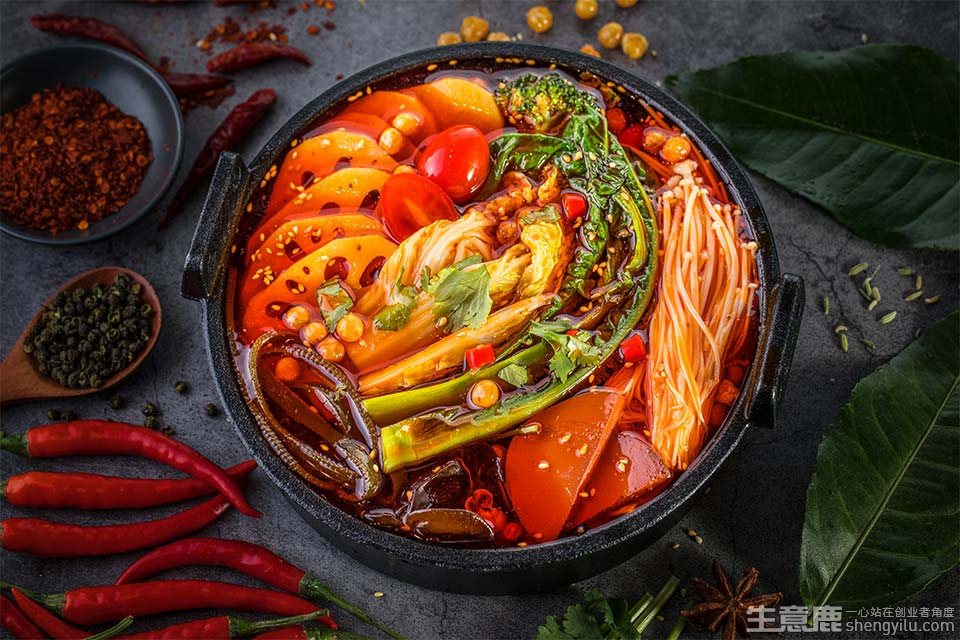 冒大仙火锅冒菜加盟店实拍